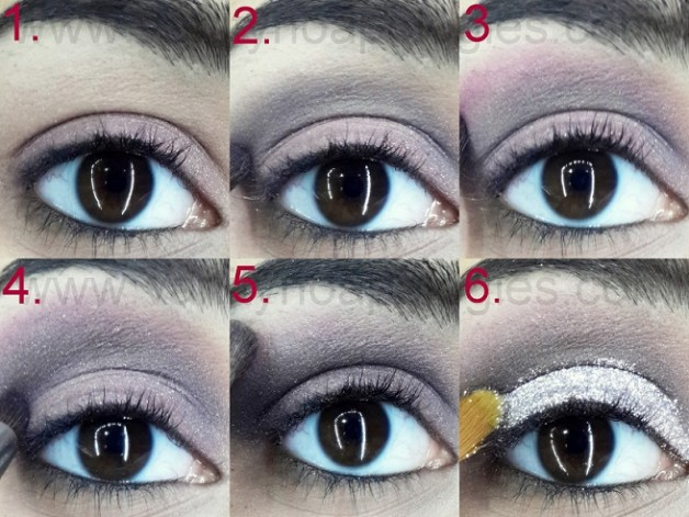 silver glitter dramatic eye makeup tutorial step by step1