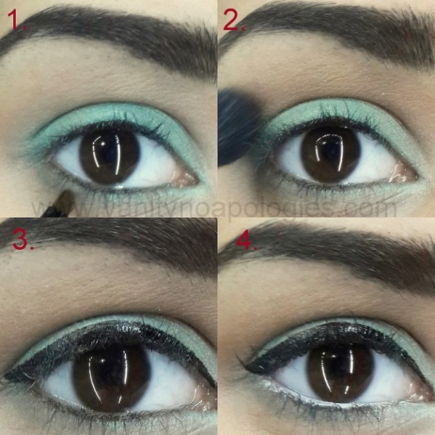 spring pastel eye makeup look tutorial steps