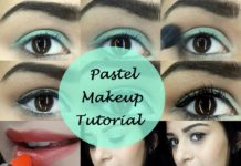 spring pastel makeup look tutorial step by step