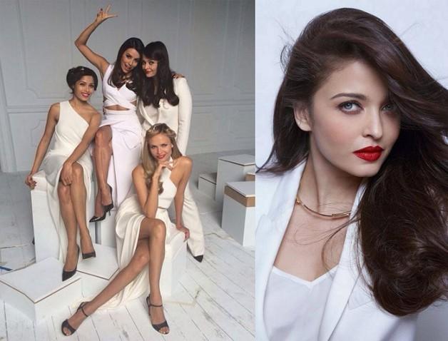 Aishwarya Rai Bachcham Eva Longoria Freida Pinto Loreal photoshoot cannes 2014