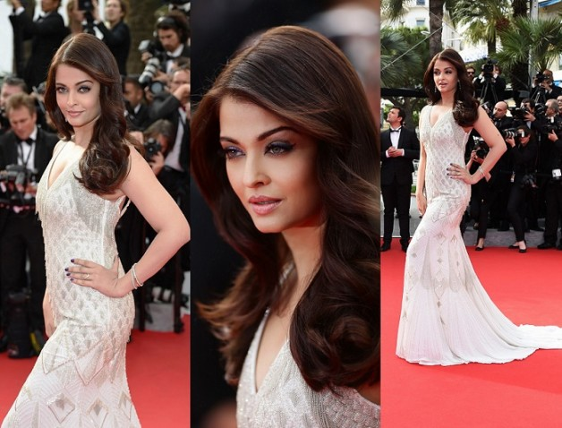Aishwarya Rai Bachchan Roberto Cavalli gown The Search Premiere 2014