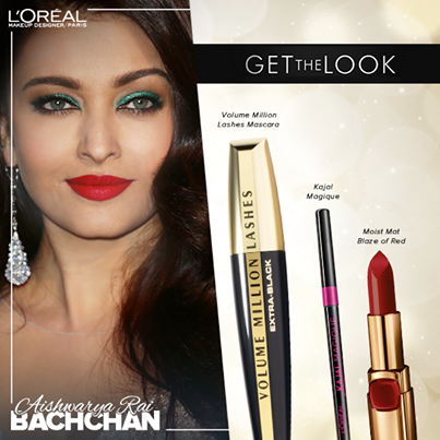 Aishwarya Rai Bachchan makeup breakdown cannes 2014