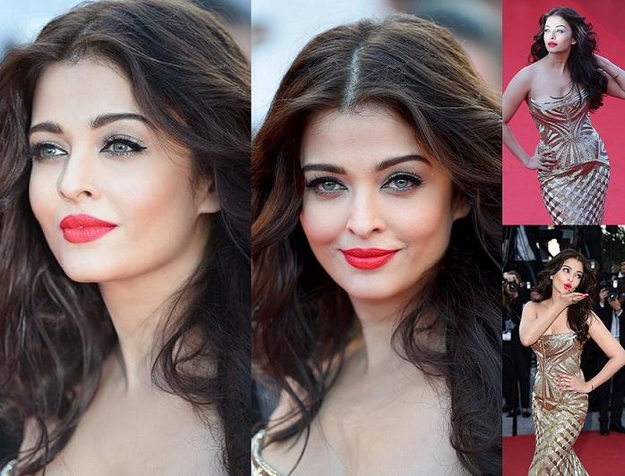 Aishwarya Rai Bachchan makeup hair cannes 2014