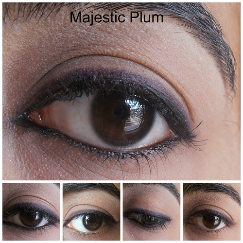 Avon Glimmersticks Eye Liners Majestic Plum Review eye swatches