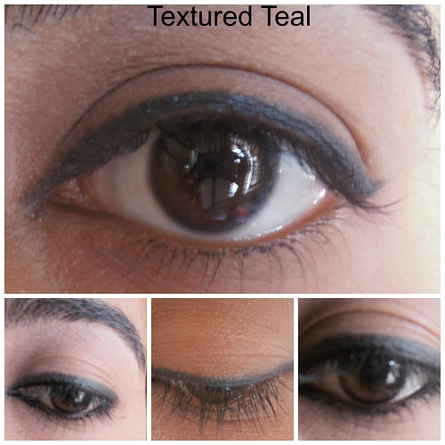 Avon Glimmersticks Eye Liners Textured Teal Review eye swatches