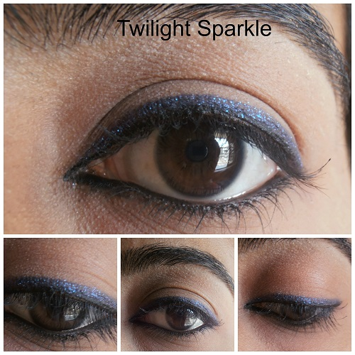 Avon Glimmersticks diamonds Eye Liners Twilight Sparkle Review eye swatches