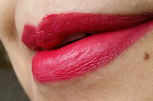 Bourjois Rouge Edition Velvet Lipstick Velvet 02 Frambourjoise review lip swatch