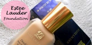 Estee Lauder Double Wear Stay in Place Makeup foundation review swatches blog