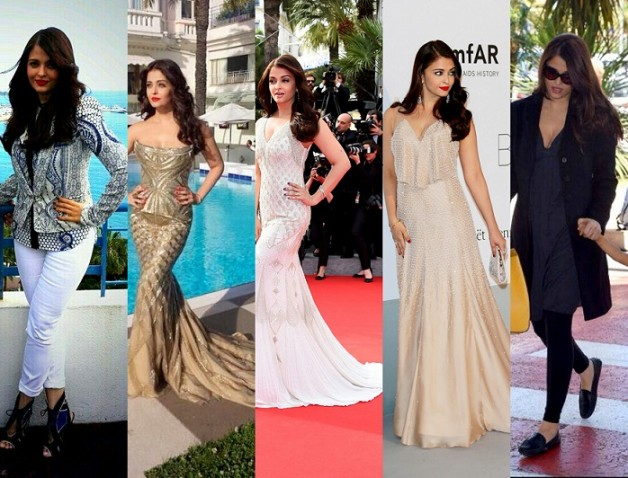 Red carpet and casual outfits by Aishwarya Rai Bachchan Cannes Film Festival 2014 review
