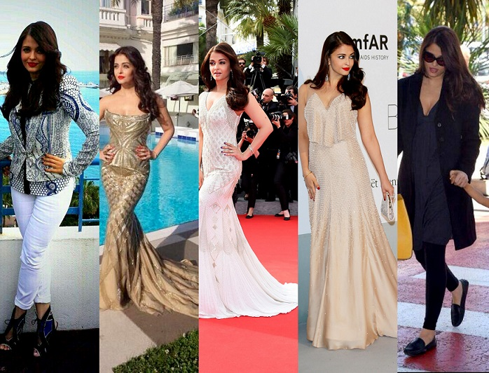 Aishwarya rai bachchans 5 outfits and makeup looks cannes 2014 voltagebd Image collections