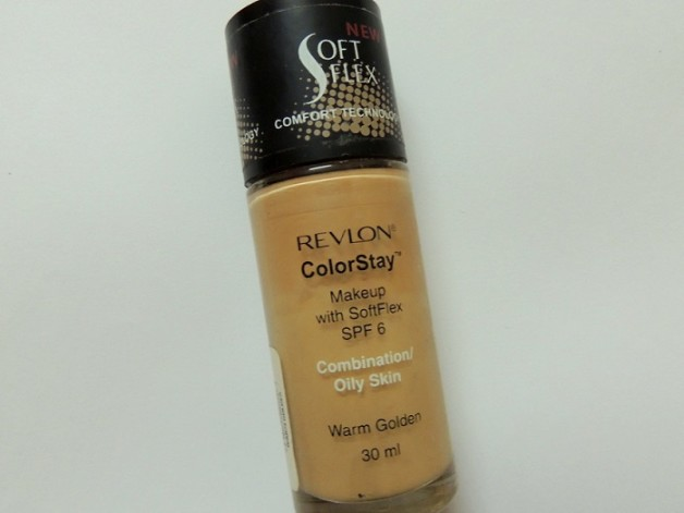 Revlon ColorStay Makeup Liquid foundation warm golden for Combination Oily Skin review