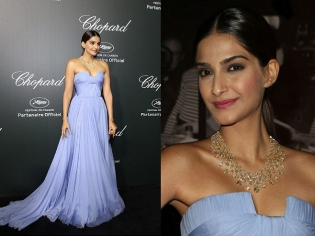 Sonam Kapoor Elie Saab Couture Chopard Party Cannes Film Festival 2014