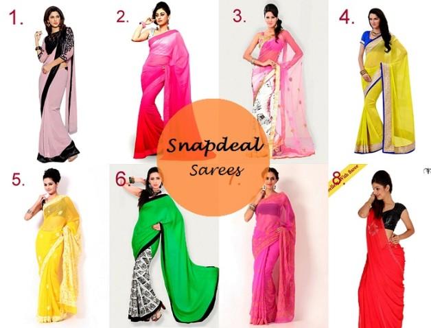 bright summer designer sarees online snapdeal