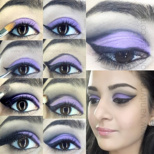 cut crease dramatic purple eye makeup for dummies