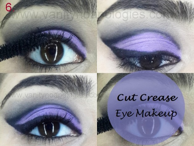 Cut crease eye makeup