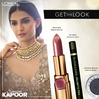 get the look sonam kapoor makeup cannes 2014
