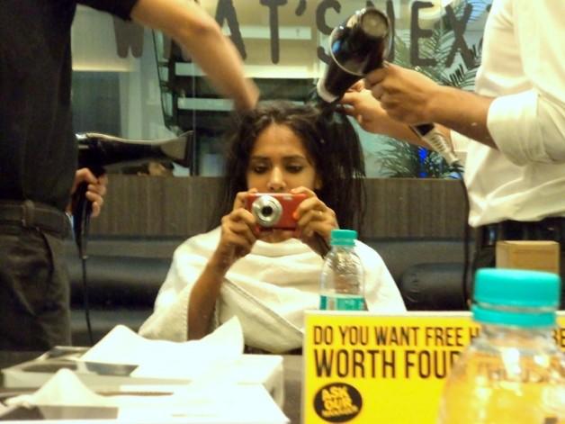 hair blow dry affinity salon gk