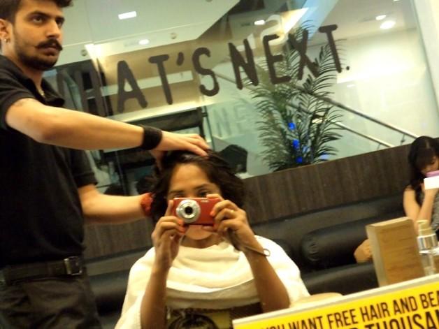 head massage delhi affinity salon photo