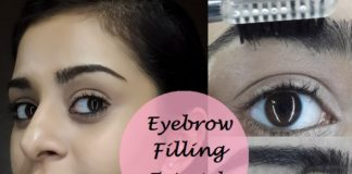 how to fill in and groom eyebrows step by step tutorial