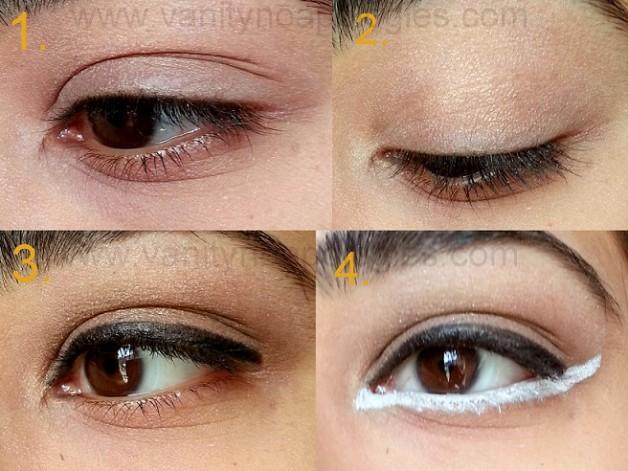 kareena kapoor eyeconic white kajal eye makeup look tutorial step by step
