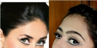 kareena kapoor inspired makeup look using eyeconic white kajal