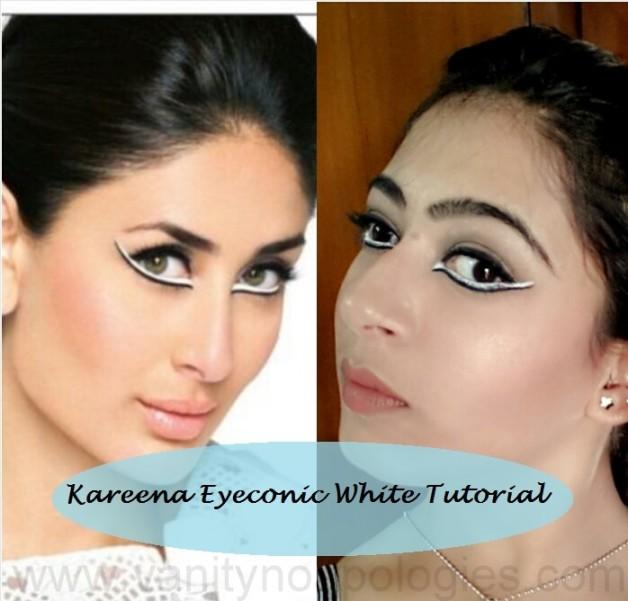 kareena kapoor inspired makeup look using eyeconic white kajal