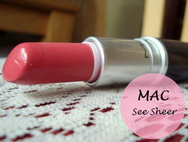 mac see sheer lipstick review swatches blog