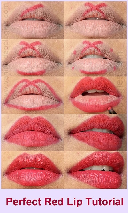 Tutorial: How To Apply Red Lipstick Perfectly (Steps ...