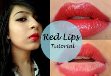 red lipstick and how to apply it the right way
