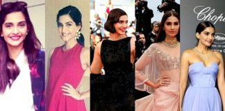 sonam kapoor 67th annual cannes film festival 5 designer outfits makeup details