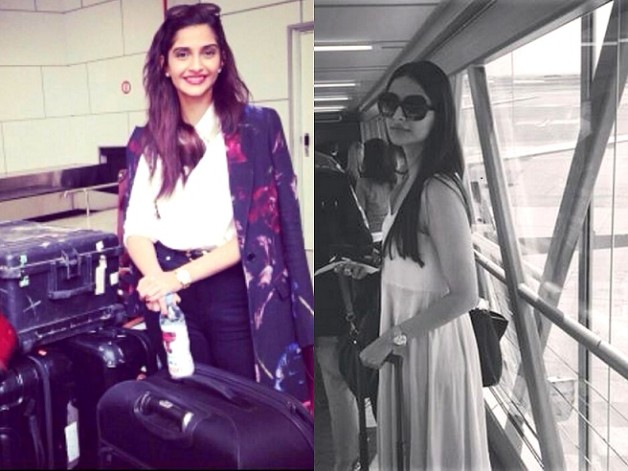 sonam kapoor airport style cannes 2014