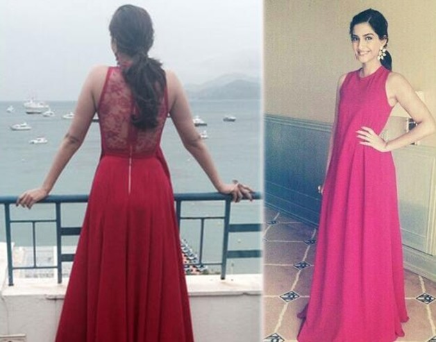 sonam kapoor elie saab red gown cannes 2014 photoshoot