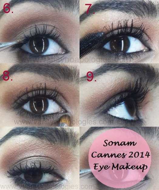 sonam kapoor eye makeup tutorial cannes 2014
