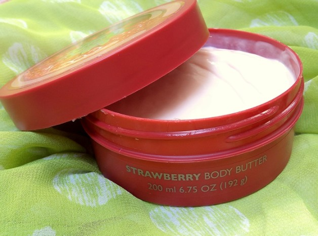 the body shop strawberry body butter review