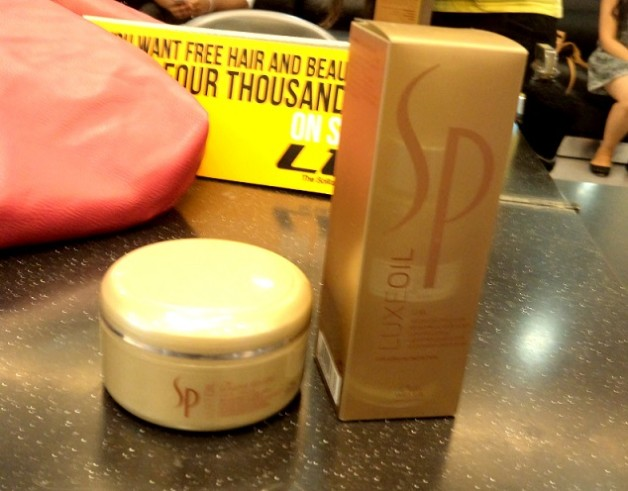 wella sp luxe oil collection review price hair spa at home
