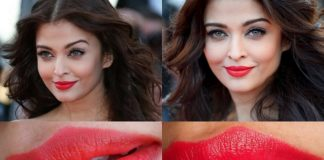 LOreal Moist Matte Lipstick Lincoln Rose on aishwarya rai cannes makeup