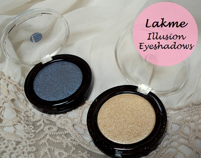 Lakme Absolute Color Illusion Eye Shadows Gold Pearl Smokey Pearl review swatches blog