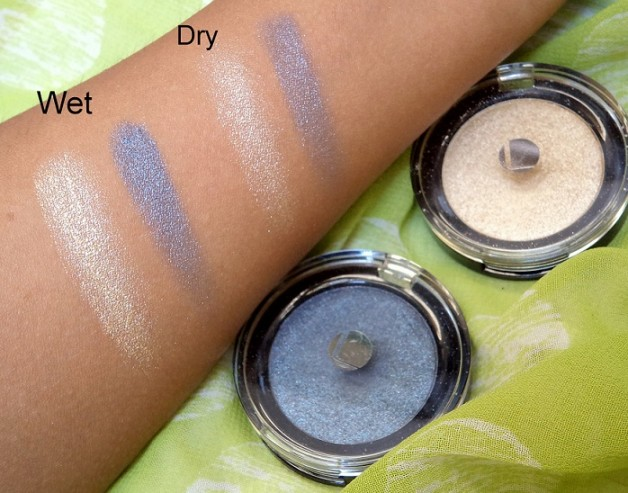 Lakme Absolute Color Illusion Eye Shadows reviews Swatches Gold Pearl Smokey Pearl