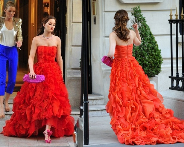 blair waldrof season4 ep2 Oscar de la Renta Pre Fall 2010 gown