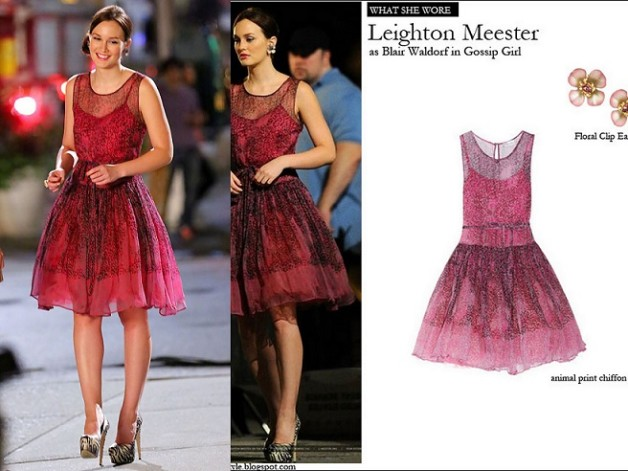blair waldrof season6 ep3 Red Valentino dress