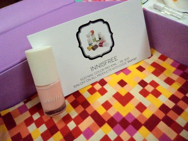 my envy box innisfree eco nail color