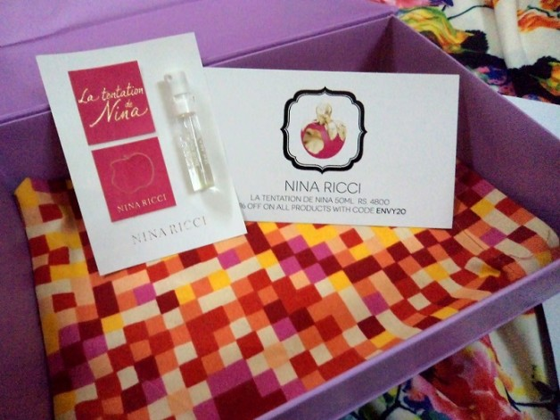 my envy box nina ricci perfume sample