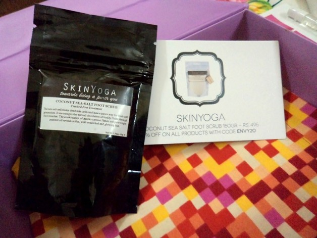 my envy box skinyoga sea salt scrub