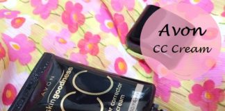 Avon skin Goodness CC cream Review blog