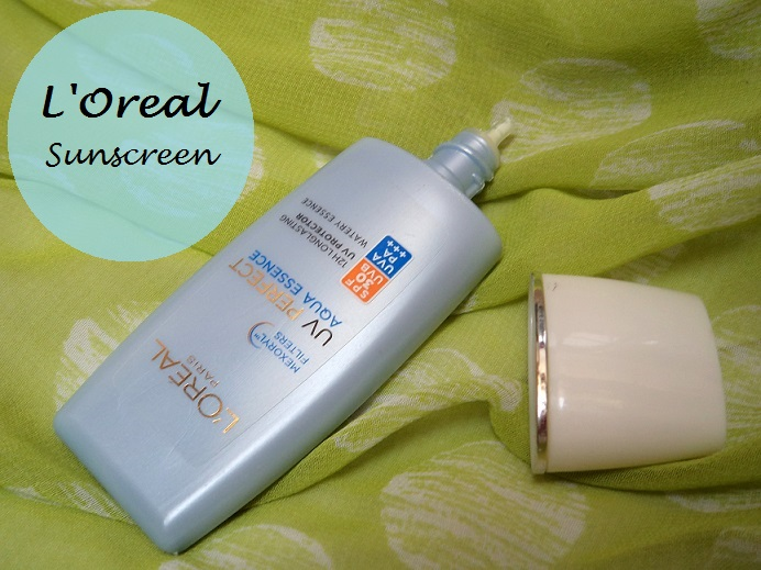 L'Oreal Paris UV Perfect Aqua Essence Sunscreen Review blog