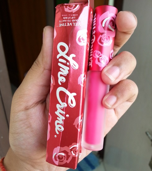 Lime Crime Pink Velvet Velvetine Review swatches india