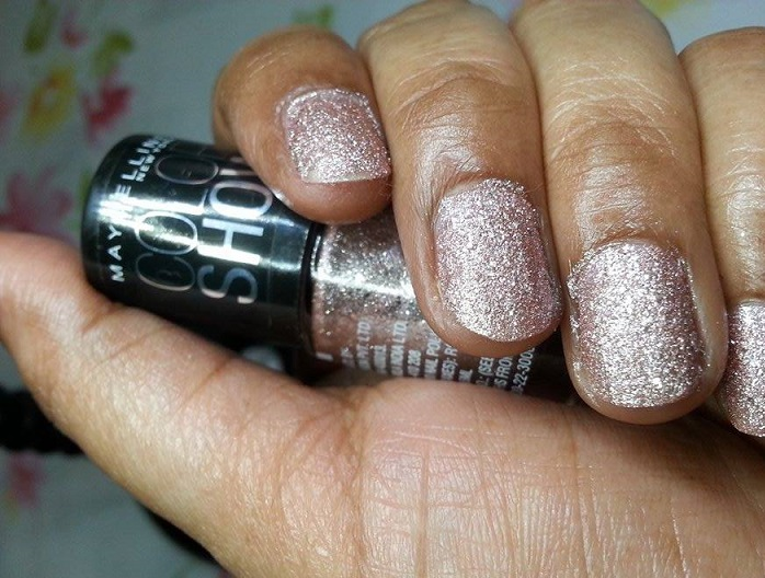 Maybelline Color Show Glitter Mania Pink Champagne review swatches blog