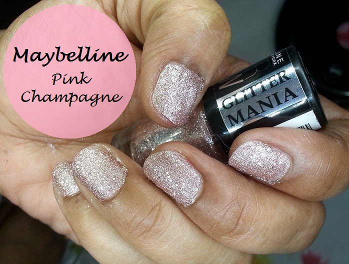 Maybelline Color Show Glitter Mania Pink Champagne Nail Polish Review And Swatches