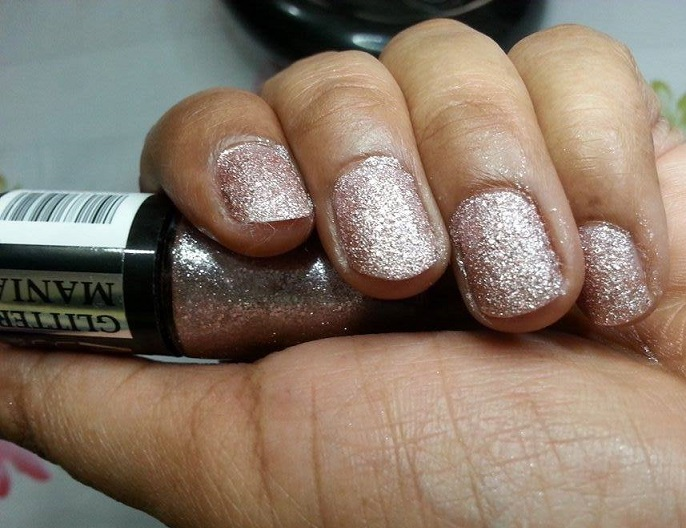 Maybelline Color Show Glitter Mania Pink Champagne review swatches