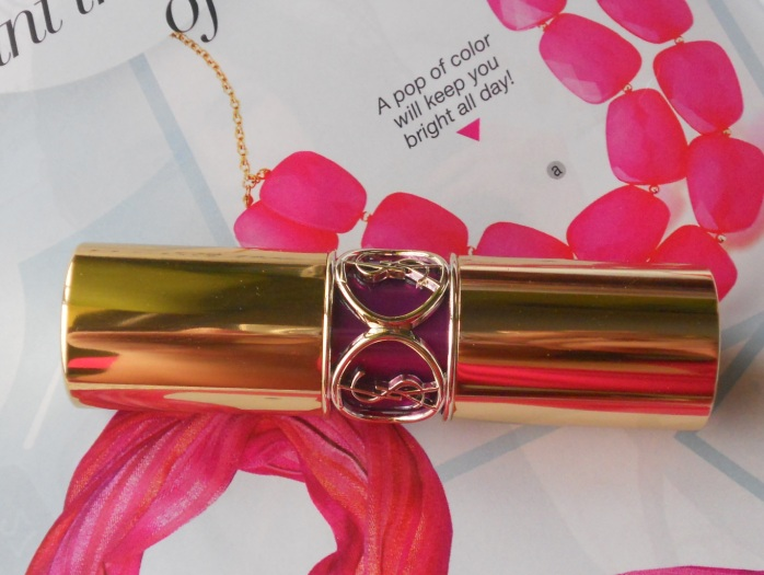 Yves Saint Laurent 19 Fuchsia in Rage lipstick review